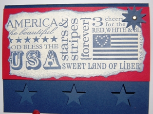 Red, white & blue card 2