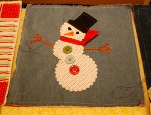 Fabric ~ snowman