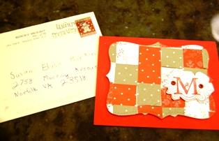 Madi's card & envelope