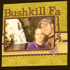 Bliss scrapbook page