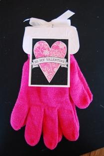 Valentine Gloves w black background