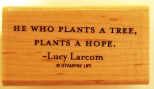 He who plants...