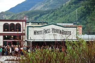 White Pass Yukon Route sign