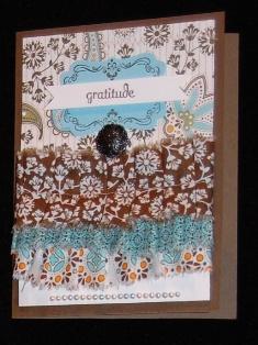 Fabric Ruffle Card