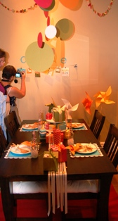 Riverton dining room decorated