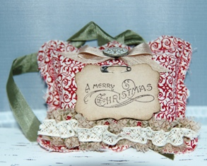 Christmas fabric ornament