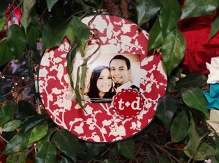 Fabric personalized ornament