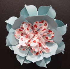 Flower paper and fabric
