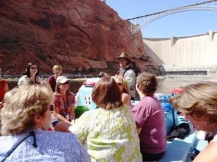 Boat tour dam
