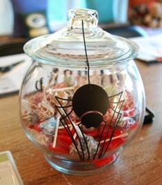 Halloween spooky candy jar