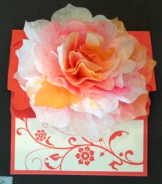 Flower crepe paper w gift certificate