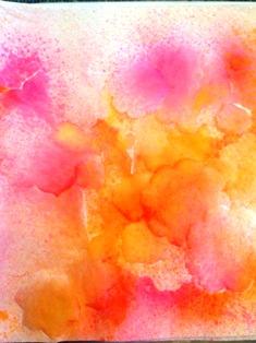 Flower crepe paper spritizing