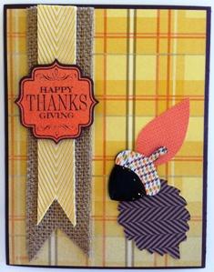 Acorn Thanks card