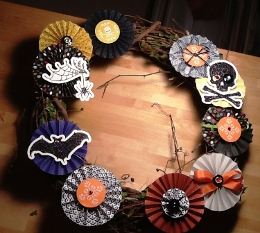 Halloween Wreath ~ Katy