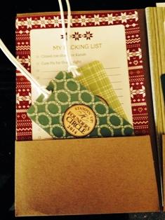 Invitation folder luggage tags