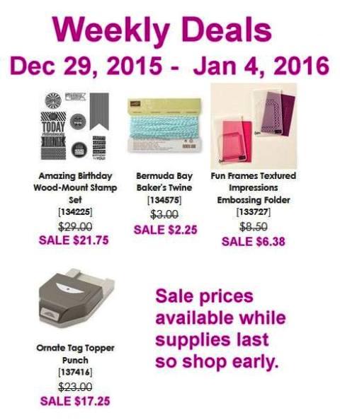 December 29 Weekly Deals