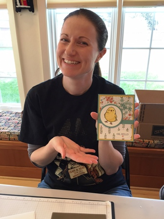 Jennifer's first card
