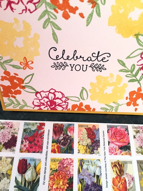 Birthday Flowers & stamps 2-29