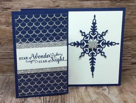 Star of Light in Night of Navy