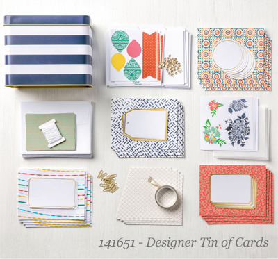 Designer Tin of Cards products