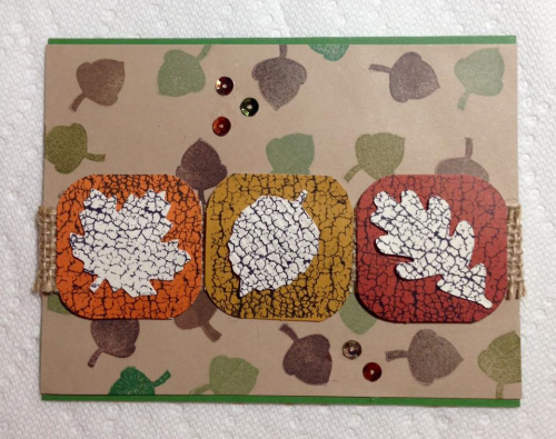 October card w acorns