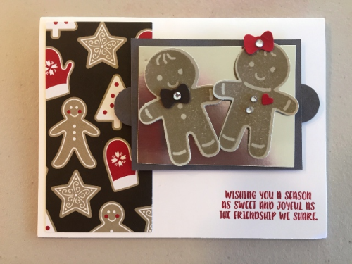 Gingerbread cookies on a sheet