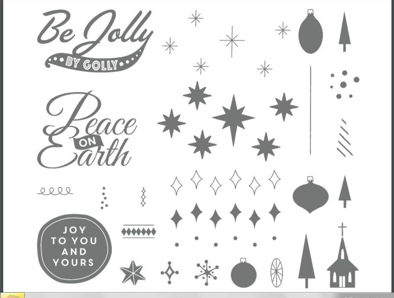 BE JOLLY stamp set