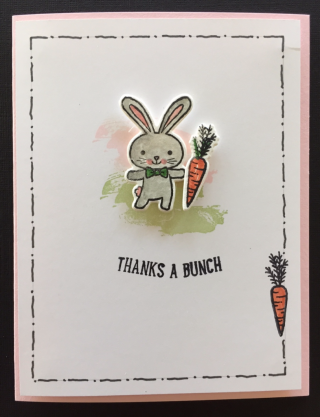Thanks a Bunch bunny card