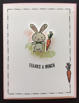 Thanks a Bunch bunny card