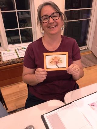 Rosie w her card