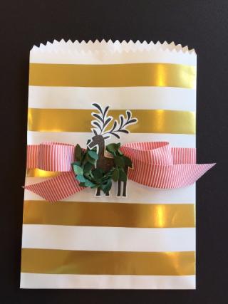 Gold striped bag
