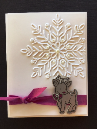 October Reindeer w snowflake