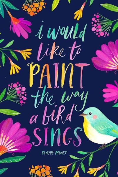 I would like to....like a bird sings