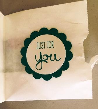 White gift bag inside