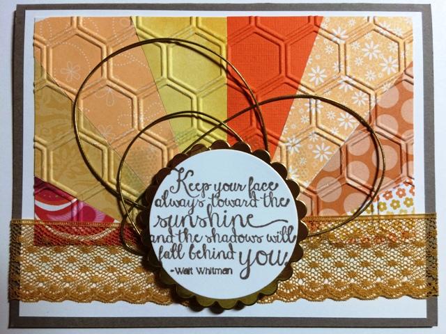 Melissa's Sunburst Card
