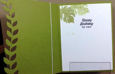 Botanical Blooms inside card