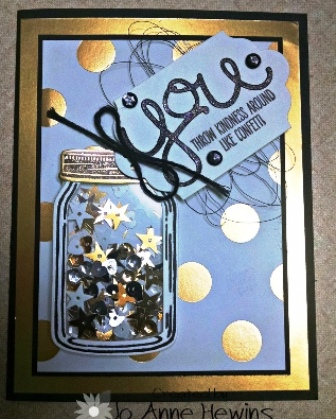 Jar card with gold