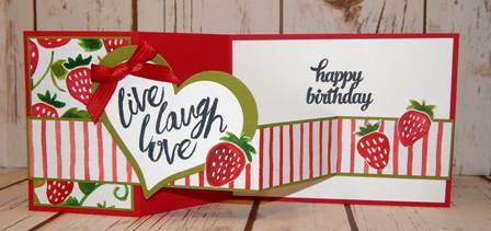 Z Fold Strawberry Card