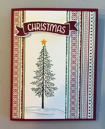 Christmas in August card w tree