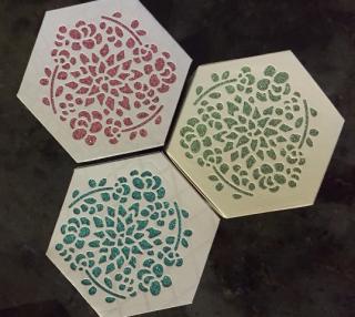 Boxes w glimmer paper