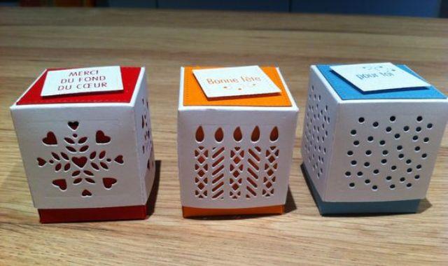 Three boxes three designs