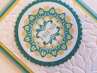 Card w new glimmer paper medallion