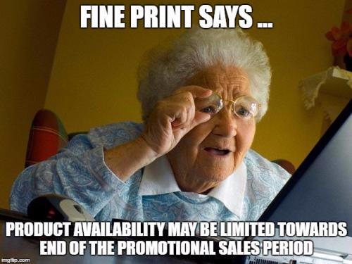 Fine print says....sab