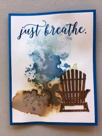 Beach chair watercolor wash horizontal