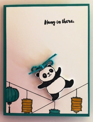 Panda Hang in there