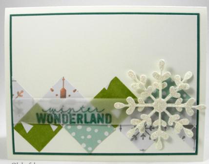 Square border card