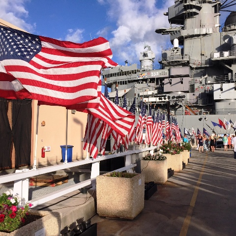 Battleship Missouri entrance