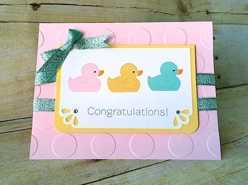 Triple Ducky Congrats Card