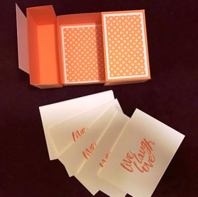 Split top box w notecards