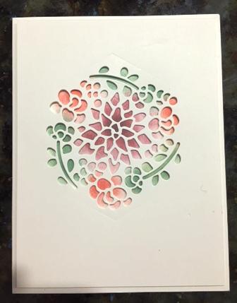 Card w sponging